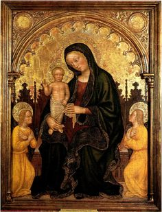 Gentile da Fabriano - Madonna with Child and Two Angels, 1410/15