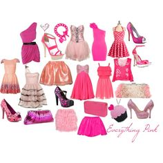 Everything Pink, created by allilovez on Polyvore