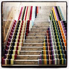Stairs are normally considered simple pathways, but a handful of artists have experimented with transforming them into alluring art installations.