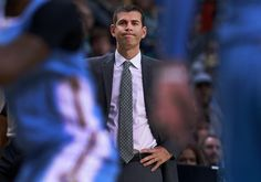 Boston, MA-11/06/16- Celtics head coach Brad Stevens reacts as he wathces the Nuggets open a huge first quarter lead over his team. The Boston Celtics hosted the Denver Nuggets in an NBA regular season basketball game at the TD Garden. (Jim Davis/Globe Staff) reporter: himmelsbach topic: Celtics-Nuggets