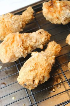 Frying up some chicken drumsticks or thighs in an air fryer opens up a lot of exciting meal options. Here are a few ways you can make your air fried chicken more unique! And tastes like KFC! Air Fryer Fried Chicken, Air Fried Food, Oven Fried Chicken, Honey Chicken, Chicken Legs, Chicken Thighs, Kfc Chicken Recipe Copycat, Chicken Recipes, Healthy Chicken