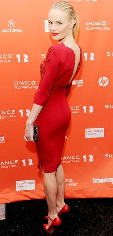 At the Sundance Film Festival premiere of Black Rock, Kate Bosworth sizzled in an embroidered Antonio Berardi sheath and matching Casadei pumps.