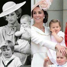 Princess Diana With Prince William & Prince Harry ... Kate Middleton With Prince George & Princess Charlotte