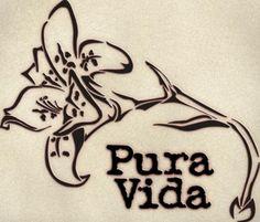 """""""Pura Vida"""" with Costa Rica's national flower the Guaria Morada."""