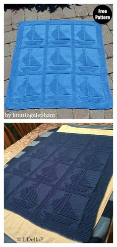 The Sailboat Baby Blanket Free Knitting Pattern is easy enough for a beginner to knit. This blanket is sure to become a treasured favorite. Baby Cardigan Knitting Pattern Free, Free Baby Blanket Patterns, Easy Baby Blanket, Crochet Blanket Patterns, Baby Knitting Patterns, Baby Blanket Crochet, Baby Patterns, Free Knitting, Knitting Ideas