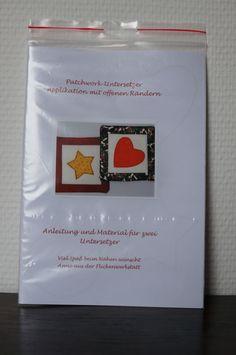 Nähanleitg. Accessoires - Materialpackung für Patchworkuntersetzer grün - ein Designerstück von DieFlickenwerkstatt bei DaWanda