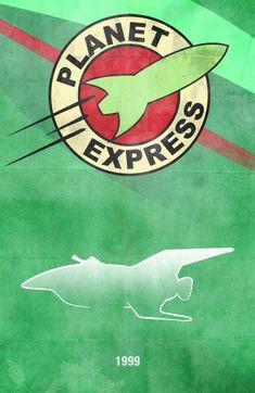 MovieCarPosters.com - Futurama - Planet Express Ship by Boomerjinks.deviantart.com on @deviantART