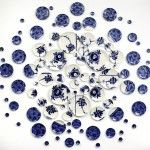 Hand-painted Ceramic Plate Installations by Molly Hatch