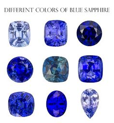 http://rubies.work/0721-ruby-earrings/ Different colours of Blue sapphires