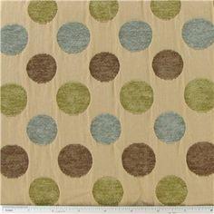 "Dot-to-Dot Home Decor Fabric @ Hobby Lobby  sku# 179325  Fabric Width: 56""  Fiber: 51% Rayon & 49% Polyester  $22"