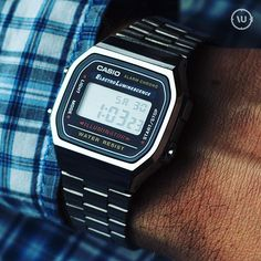 dfcc3649538 Retro style! The Casio A168WA-1YES with a battery life of seven years.
