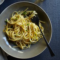 Linguine with Gremolada   Gremolada traditionally consists of minced garlic, parsley, and lemon zest. We've added lemon juice and orange zest to bring even more citrus flavor to the dish.