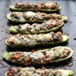 Vegetable and Quinoa Stuffed Zucchini