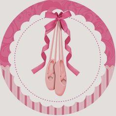 Fazendo a Propria Festa: bailarina rosa com listras