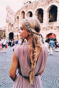 Braided Ponytail Hairstyle with Headband