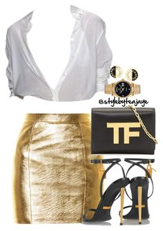 """Untitled #2691"" by stylebyteajaye ❤ liked on Polyvore featuring Yves Saint Laurent, Tom Ford, Rolex and Chanel"