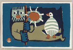 Umetaro Azechi 1902-1999 - Mountain Man and Bird - 4
