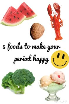 5 best foods to eat while on your period! (:   >>http://www.cosmopolitan.com/health-fitness/advice/g1127/what-to-eat-during-your-period-0807/