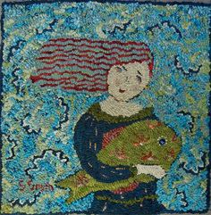 Pisces250 Off The Hook Wools Rug Hooking Patterns Fabric