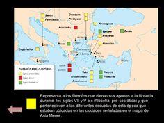 """La filosofía occidental surgió en el Mare Nostrum (Mediterráneo), concretamente en la Hélade (Grecia peninsular actual) , se desarrolló en la Región de Jonia, en Asia Menor y se expandió por la """"Magna Grecia"""" (Sicilia y sur de Italia)."""