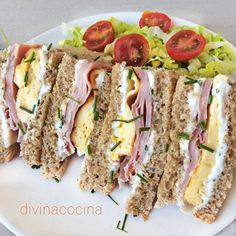 Sándwiches, ideas y recetas rápidas Here you have many ideas to make original and varied sandwiches and sandwiches Tapas, Easy Cooking, Cooking Recipes, Quick Recipes, Healthy Recipes, Food Porn, Brunch Buffet, Wrap Sandwiches, Snacks