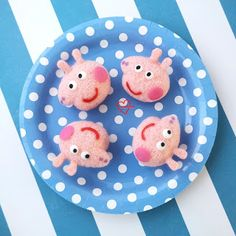 Loving Creations for You: Peppa Pig Strawberry Yoghurt Chiffon Cakepops Macaron Template, Purple Food Coloring, Baking Supply Store, Cupcake Cases, Sour Taste, Square Tray, How To Clean Metal, Egg Whisk, Chiffon Cake