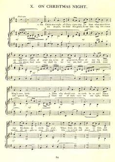 On Christmas Night sheet music Christmas Songs Lyrics, Xmas Music, Christmas Sheet Music, Christmas Words, Old Christmas, Christmas Night, Christmas Carol, Christmas Pictures, Christmas Holidays