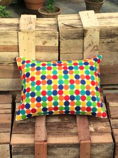 Pop of Color Cushion by vedikaaggarwal on Etsy