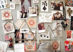 Gorgeous inspiration board at Odette New York