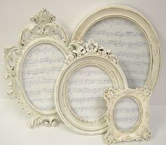 Shabby Chic Frames Picture Frame Set by MountainCoveAntiques, $76.00