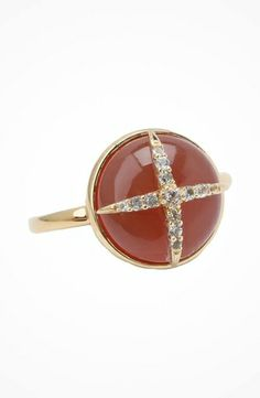 Elizabeth and James Northern Star Cabochon Ring with Carnelian and White Topaz #accessories  #jewelry  #rings  https://www.heeyy.com/elizabeth-and-james-northern-star-cabochon-ring-with-carnelian-and-white-topaz-carnelian-white-topaz/
