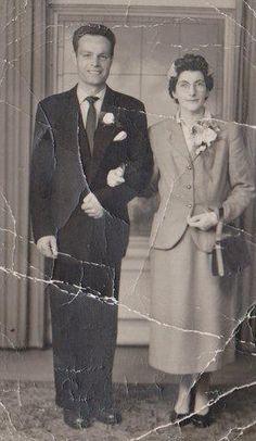 mum & dad,wedding day 5/6/1957