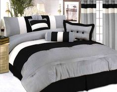 $76.98  Modern Jacquard Bedding 7 pc Comforter Set Black/King by Jenin Home, http://www.amazon.com/dp/B005OMWWZK/ref=cm_sw_r_pi_dp_5Ibrqb0AH4Y9H