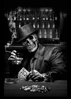 48217969 Android & iPhone wallpaper by Technossroy Dark Fantasy Art, Dark Art, Skull Tattoos, Body Art Tattoos, Evil Skull Tattoo, Arte Lowrider, Grim Reaper Art, Skull Pictures, Wild Pictures