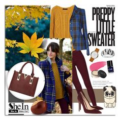 """""""Preppy Little Sweater...SheIn"""" by melissa-de-souza ❤ liked on Polyvore featuring Tagliatore, Gianvito Rossi, Burberry, Crabtree & Evelyn, NARS Cosmetics, Marc Jacobs, Sheinside and polyvoreeditorial"""