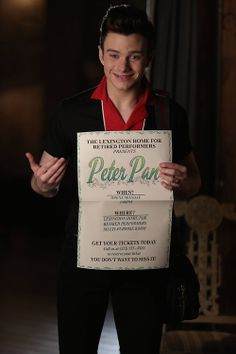"""GLEE: Kurt (Chris Colfer) nabs the lead role in a retirement home production of """"Peter Pan"""" in the """"Old Dog New Tricks"""" episode of GLEE airing Tuesday, May 6 (8:00-9:00 PM ET/PT) on FOX."""