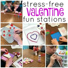 Take the head-ache out of Valentine's Day party activities by using these STRESS-FREE games and activities.  These independent stations will make the day a blast for you and your students.