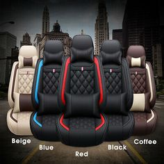 Car Seat Front +rear Cushion Cover PU Leather Needlework for 5 Seats Car Back Seat Covers, Car Covers, Car Interior Upholstery, C4 Cactus, Leather Car Seat Covers, Custom Car Interior, Car Seat Cushion, Auto Body Repair, Fit Car
