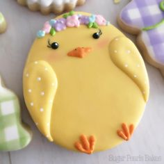 Celebrate Easter with the best Easter cookies. Here are the best Easter Sugar Cookies ideas. These Easter cookies decoration with royal icing are so cute. No Egg Cookies, Fancy Cookies, Iced Cookies, Cookies Et Biscuits, Sugar Cookies, Holiday Cookies, Cookies Light, Crinkle Cookies, Heart Cookies