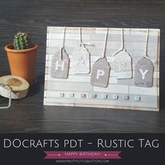 Rustic Tags Birthday Card – Docrafts PDT