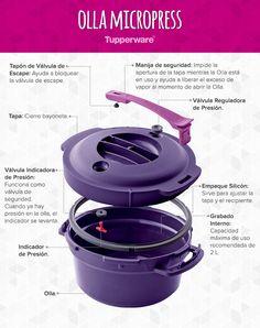 Cocina con placer y sin riesgo con la única olla de presión para microondas. #Tupperware #OllaMicropress