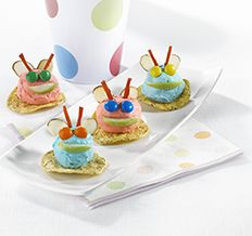 Create the tastiest Bug Bites, Tostitos® own Cream Cheese Appetizer with step-by-step instructions. Make the best Cream Cheese Appetizer for any occasion. Apples And Cheese, Tasty, Yummy Food, After School Snacks, Tortilla, Dessert Recipes, Desserts, Cheese Recipes, Mini Cupcakes
