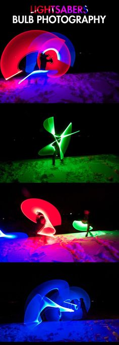 Light painting with lightsabers…