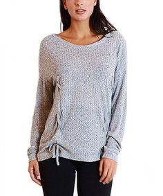 Another great find on #zulily! Melange Gray Ruched Side-Tie Tunic #zulilyfinds
