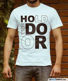 John Varvatos Men/'s The Doors Rock Icon Graphic Raw Edge Crew T-Shirt Black