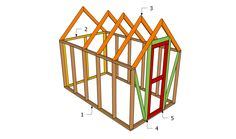 One of the better looking small greenhouses with plans and materials listed.