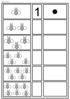 Math Worksheets, Worksheets For Kids, Bug Crafts, Printable Numbers, Simple Math, Skills To Learn, Bee Happy, Numeracy, Pre School