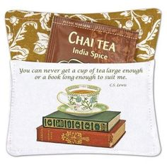 Tea Cup on Books Spiced Mug and Tea Cup Mat with Tea Bag - Roses And Teacups