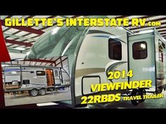 2014 VIEWFINDER 22RBDS ULTRA LITE TRAVEL TRAILER BY CRUISER RV --- Gillette's Interstate RV Rv Videos, Ultra Lite Travel Trailers, Recreational Vehicles, Youtube, Camper Van, Campers, Rv Camping
