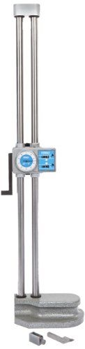 """Fowler 52-174-224 Chrome Plated Twin Beam Dial Height Gage, 24"""" Max Measuring, 0.001"""" Graduation, 2015 Amazon Top Rated Height Gauges #BISS"""